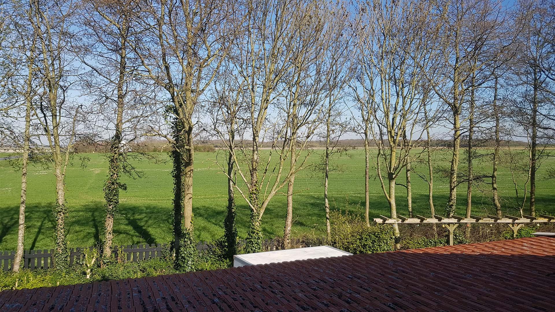 kamer 1 uitzicht B&B Plompetorenzicht Burg-Haamstede Zeeland