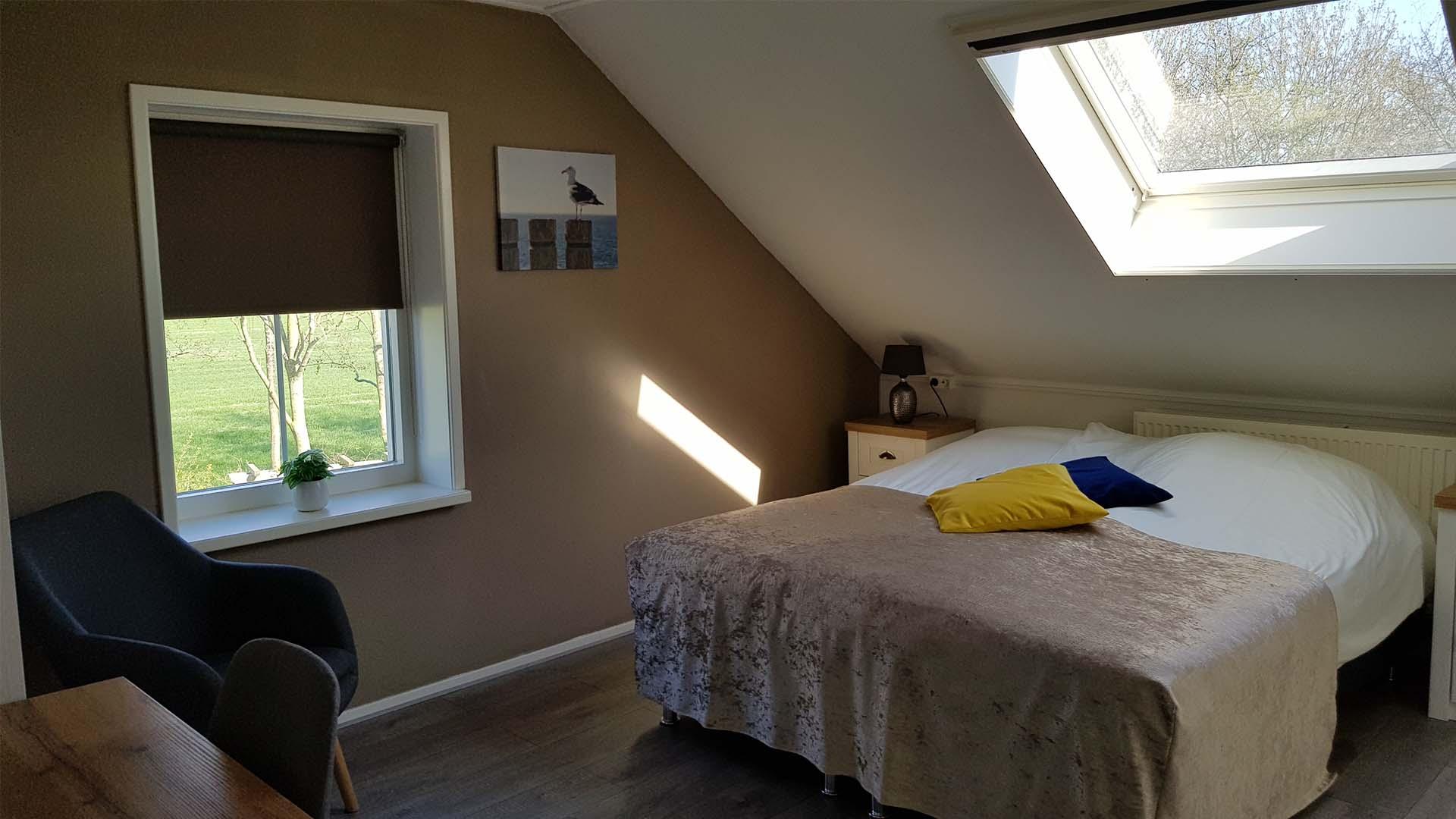 kamer 2 bed B&B Plompetorenzicht Burg-Haamstede Zeeland