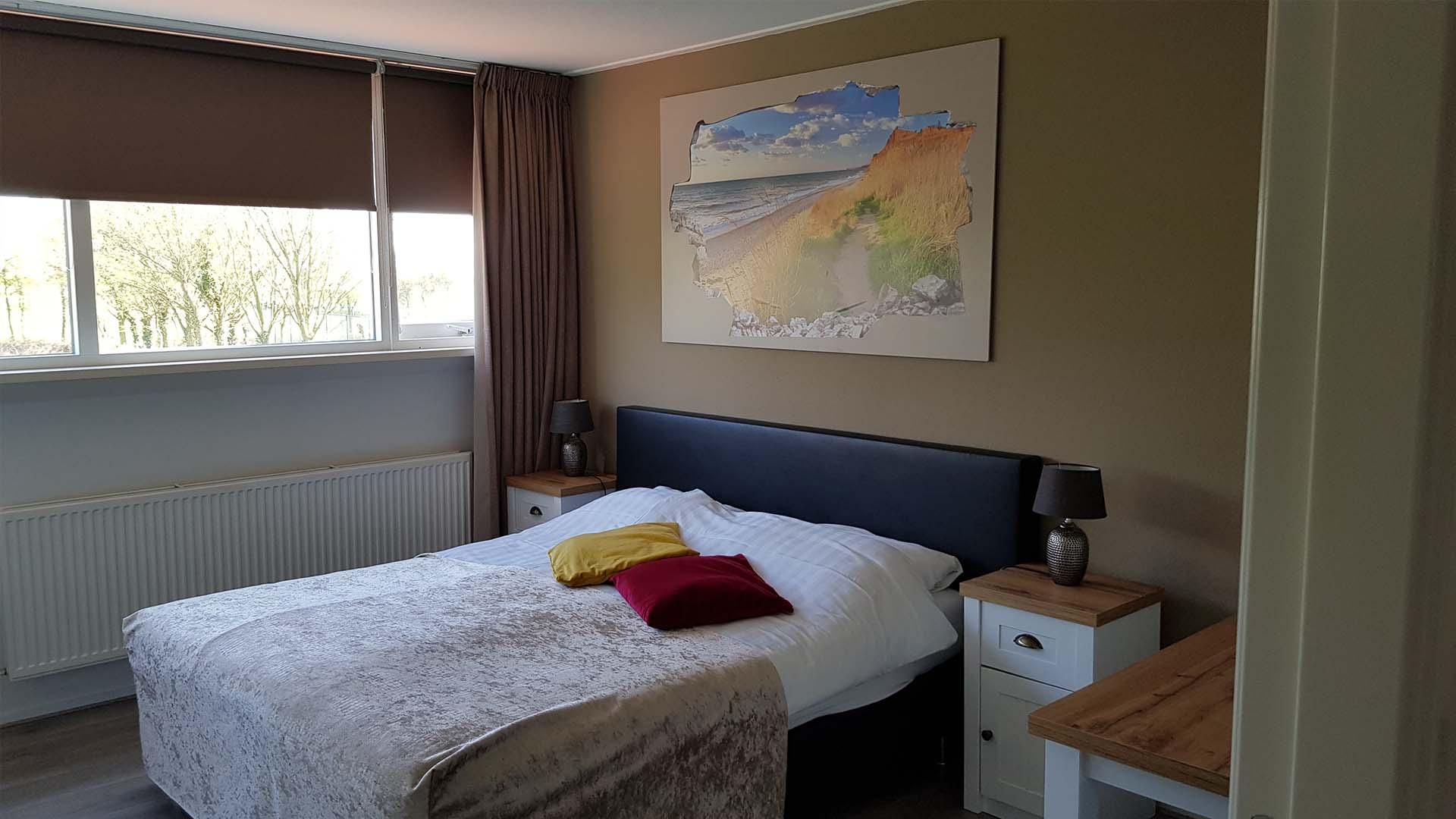 kamer 4 tweepersoonsbed B&B Plompetorenzicht Schouwen-Duiveland Zeeland
